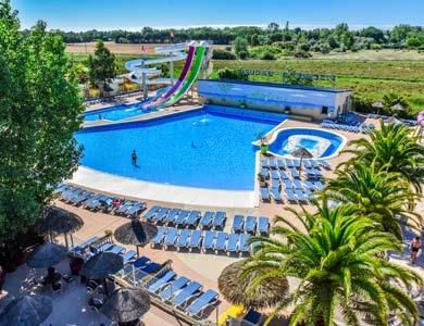 Camping avec piscine à vague Languedoc Roussillon