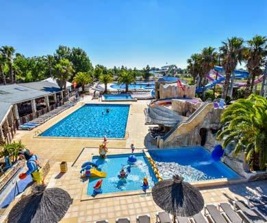 Camping luxe avec piscines et parc aquatique