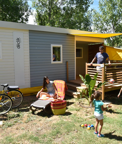 Location mobil-home luxe camping Hérault
