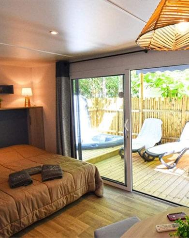 Mobil Home Avec Jacuzzi Privatif Herault Camping Avec